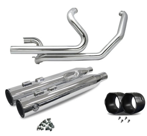 Bagger Brothers Exhaust System True Dual Full Chrome + 4