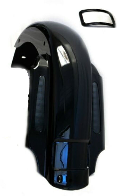 Bagger Brothers Dual Cut Replacement Fender with CVO-Style LED Lights Fits 1996-2008 Harley-Davidson Touring Models