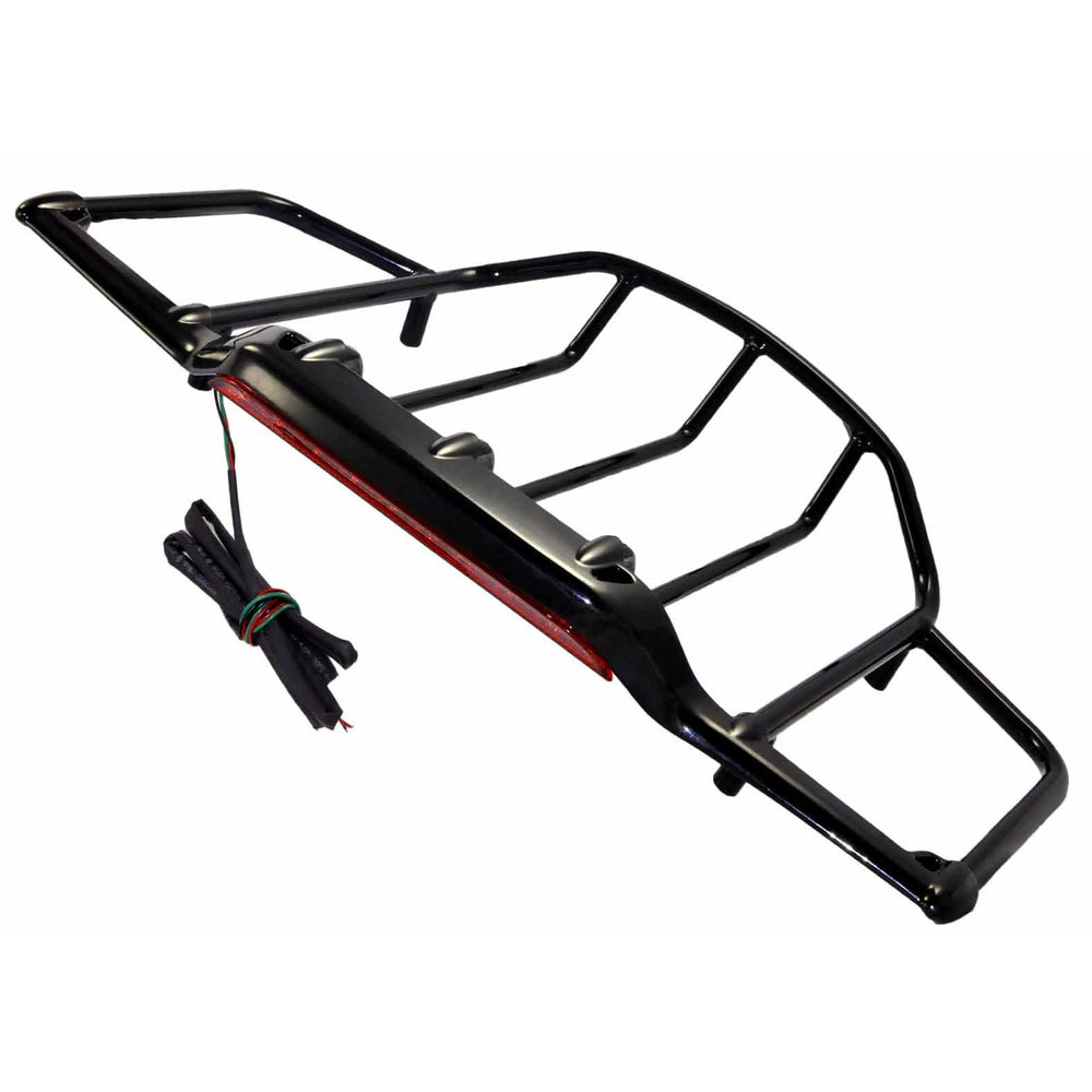 Bagger Brothers 1987-2019 Black Tour-Pak Luggage Rack With LED Running/Brake Light - Fits Tour-Pak Lids