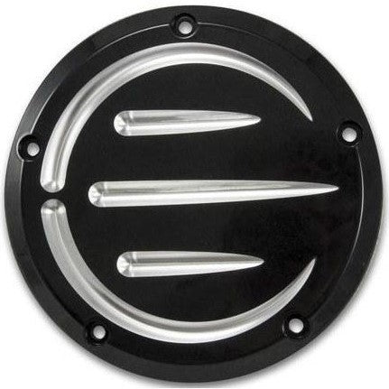 Bagger Brothers Cover Derby 5-Hole Billet Aluminum Black Anodized