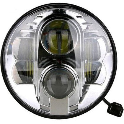 "Bagger Brothers Headlight Projection 7"" LED Chrome"