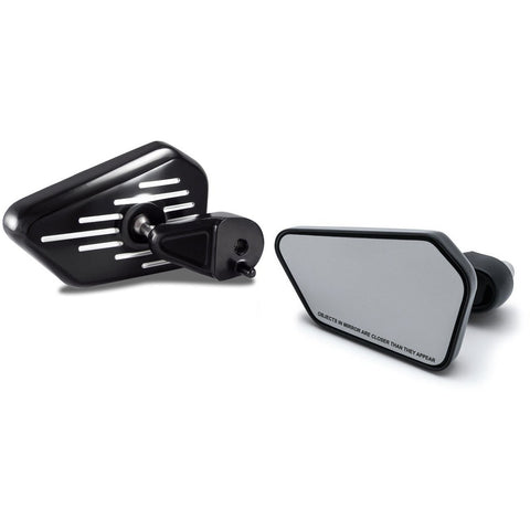Bagger Brothers Elite Series Fairing Pinstripe Series Mounted Mirrors Fits 2014-2017 Harley-Davidson Touring Models in chrome or black