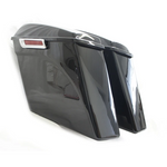 "Bagger Brothers Complete 4.5"" Extended Saddlebag Kit (NO CUT OUTS) - Vivid Black - '14-'20 FL Models"
