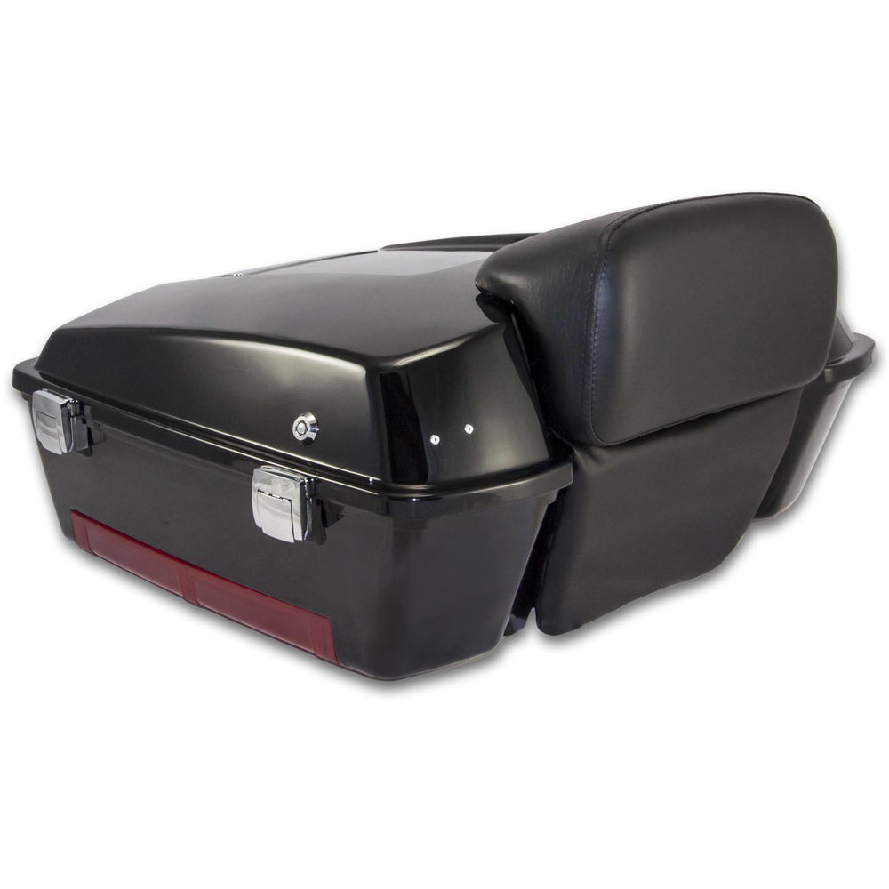 Bagger Brothers Chopped-Style Tour Pak Fits 1996-2013 with Chopped Backrest for Harley-Davidson® Touring Models