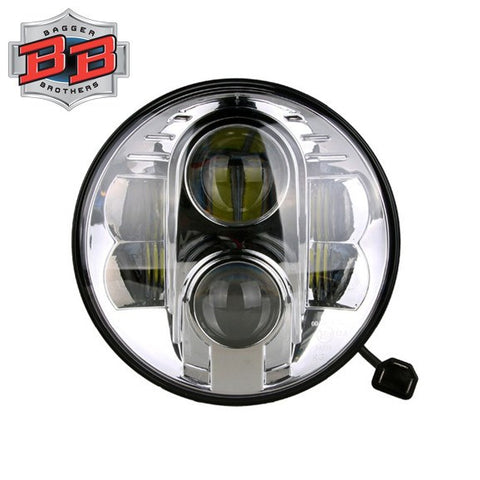 "Bagger Brothers 7"" Projection LED Headlight (Chrome), Bagger Brothers"