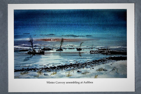 Winter Convoy assembling at Aultbea