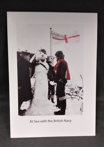 At Sea with the British Navy Christmas Card
