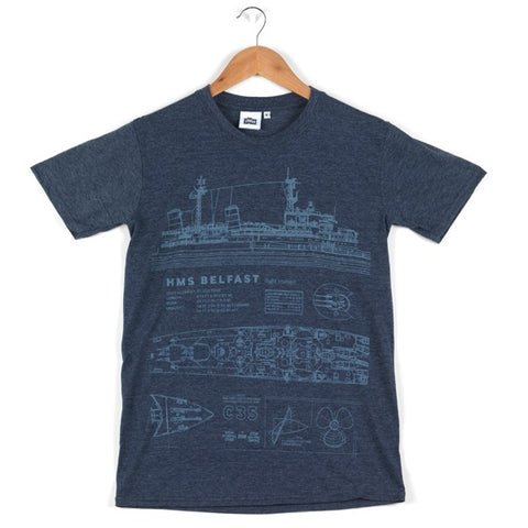 HMS Belfast Blueprint T-Shirt