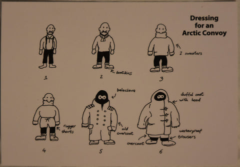 Dressing for an Arctic Convoy - Postcard