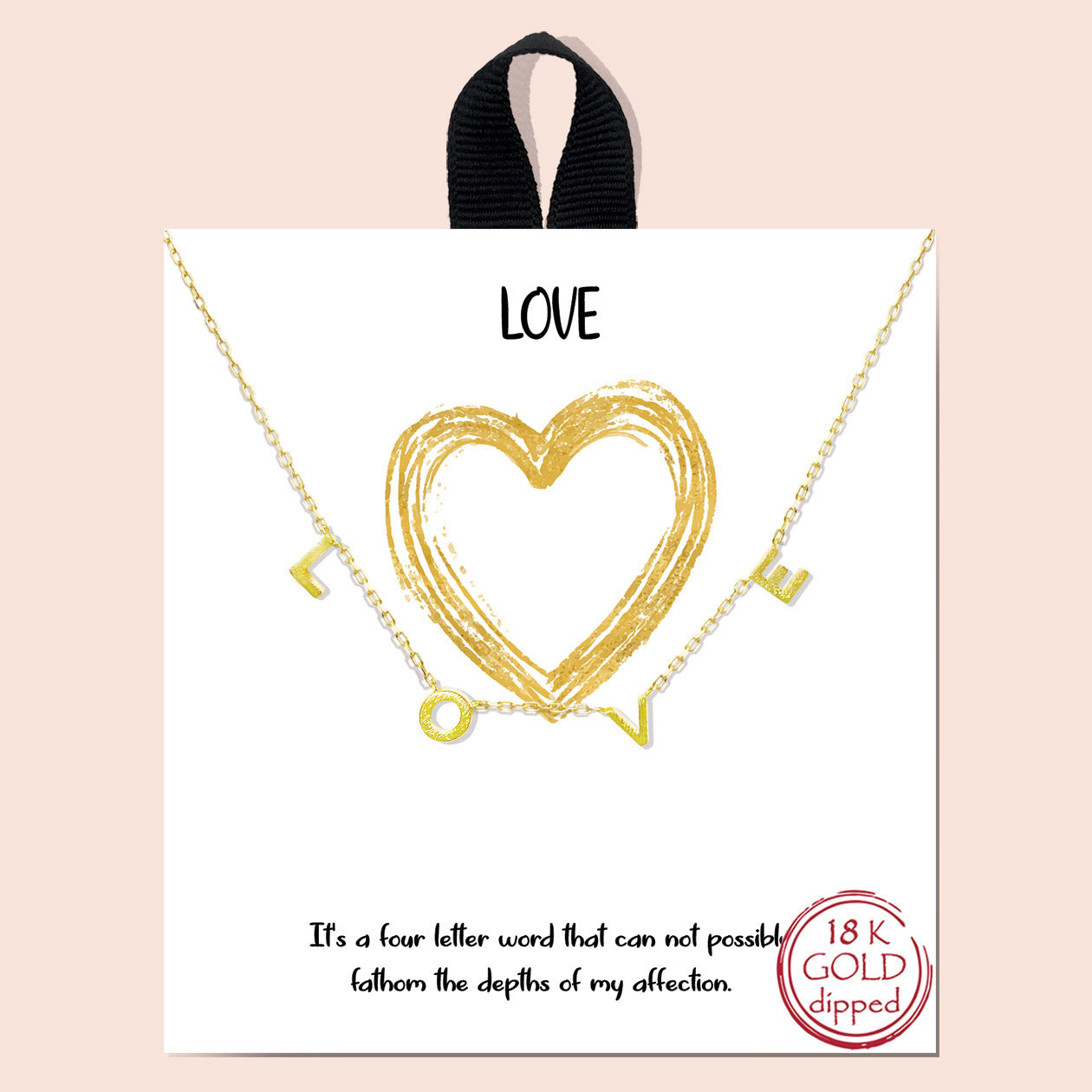 L-O-V-E this Love Necklace