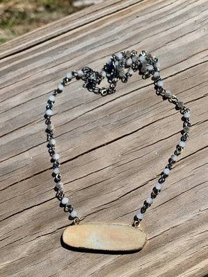 Sand Bar Pendant Necklace