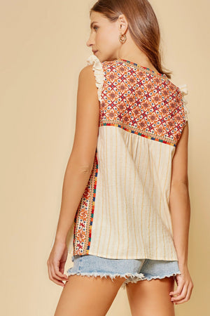 Tulum Sands Embroidered Top Small - 3X