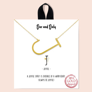Large Initial Block Letter Necklace