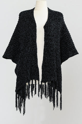 Fancy Chenille Poncho