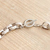 Classic Crystal Link Necklace Silver with Gold