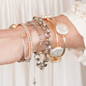 Classic Link Bracelet Silver and Gold