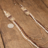 Layered Cheyanna Necklace Brown