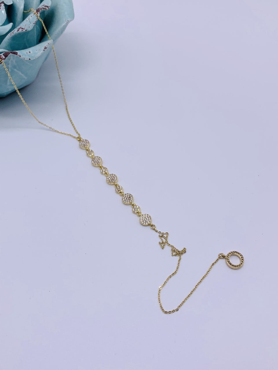 "Long Dangle Disc ""Y"" Necklace Swarovski Crystal Gold or Silver"