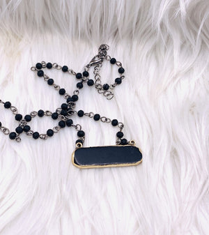 Black Beauty Pendant Necklace