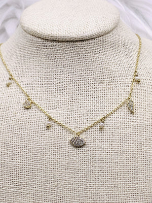 Sweet Petite Pearl Necklace Gold or Silver