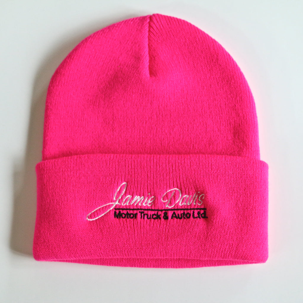Pink Roll up Toque