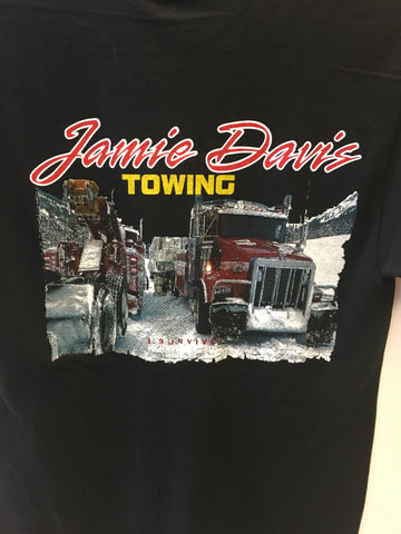 Twin Truck Snow Scene T-Shirt