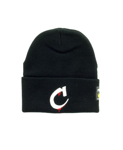 """C"" Logo Beanie Available in the color(s) Black/White/Red"