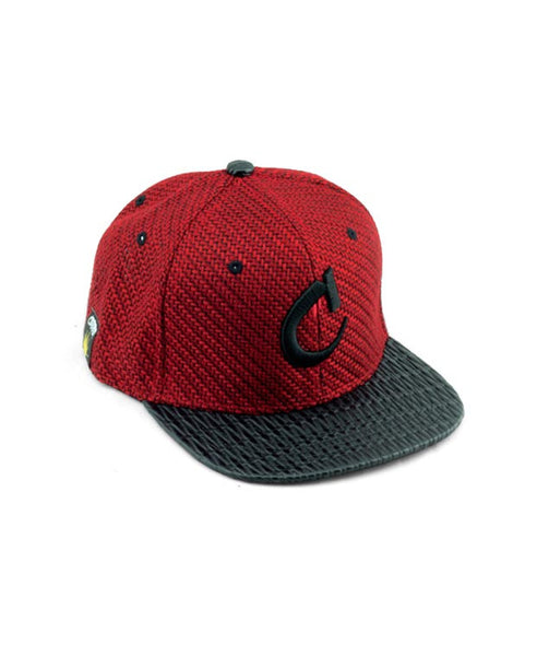 Coronation Logo Woven Hat available in the color(s) Red/Black
