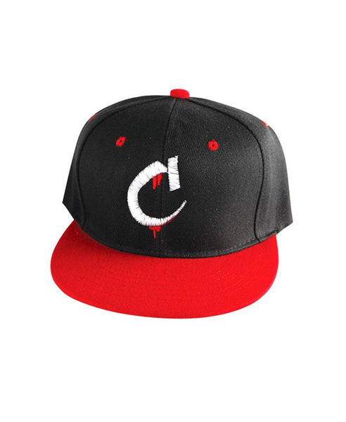"""C"" Logo Hat Available in the color(s) Black/Red"