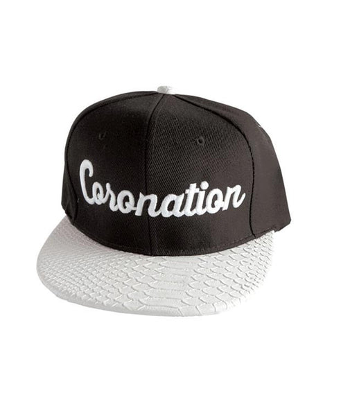 Coronation Script Hat available in the color(s) Black/White