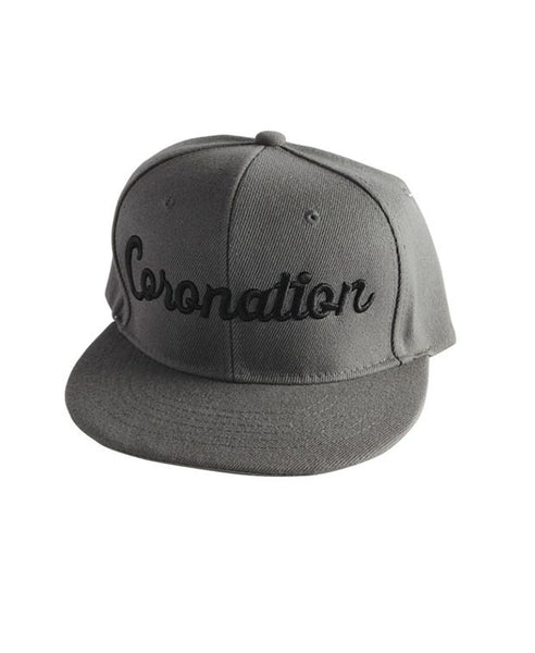 Coronation Script Hat available in the color(s) Grey/Black