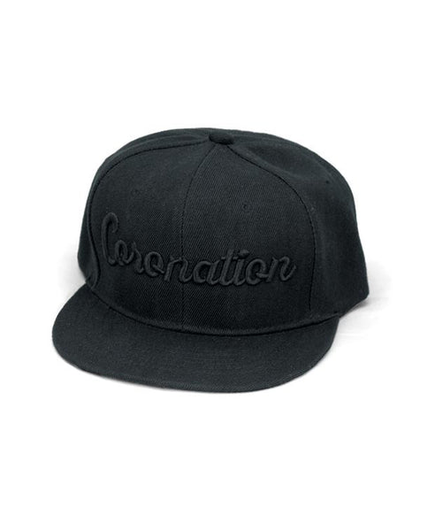 Coronation Script Hat available in the color(s) Black/Black
