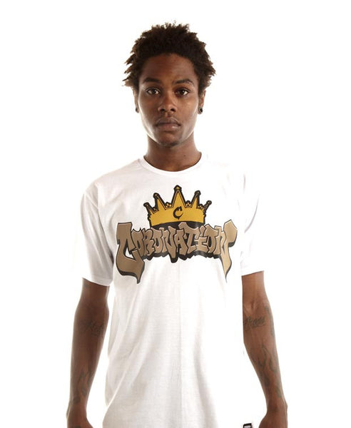 Middle Crown Logo Tee in White