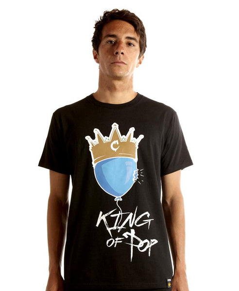 King of Pop Tee in Black