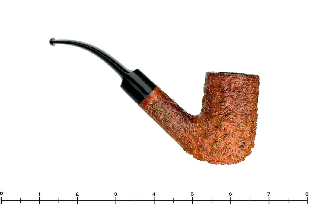 Blue Room Briars is proud to present this Lorenzo Varallo 828 Rusticated 1/2 Bent Stack Billiard Estate Pipe