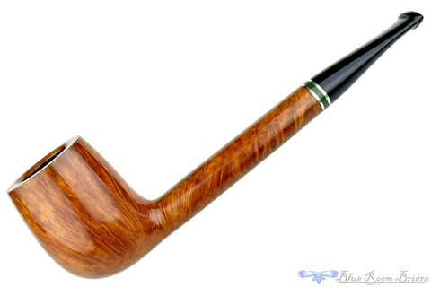 Blue Room Briars Pipe Smooth 3/4 Bent Billiard with Saddle Stem II
