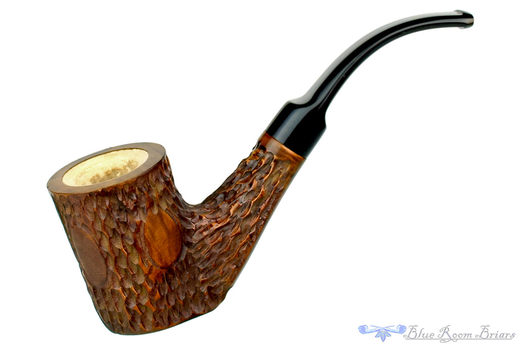 Blue Room Briars is proud to present this Whitehall Meerschaum Lined Rusticated 1/2 Bent Poker Estate Pipe