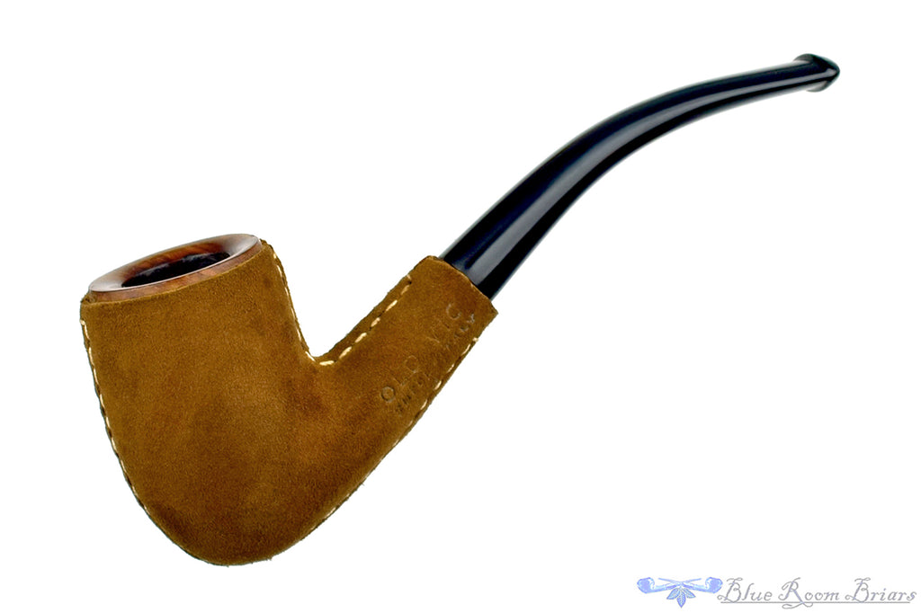Blue Room Briars is proud to present this Old Vic (Lorenzo) 1/2 Bent Suede Covered Billiard Estate Pipe