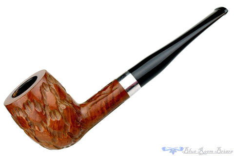 CK Co Brush Carved Square Shank Apple Estate Pipe