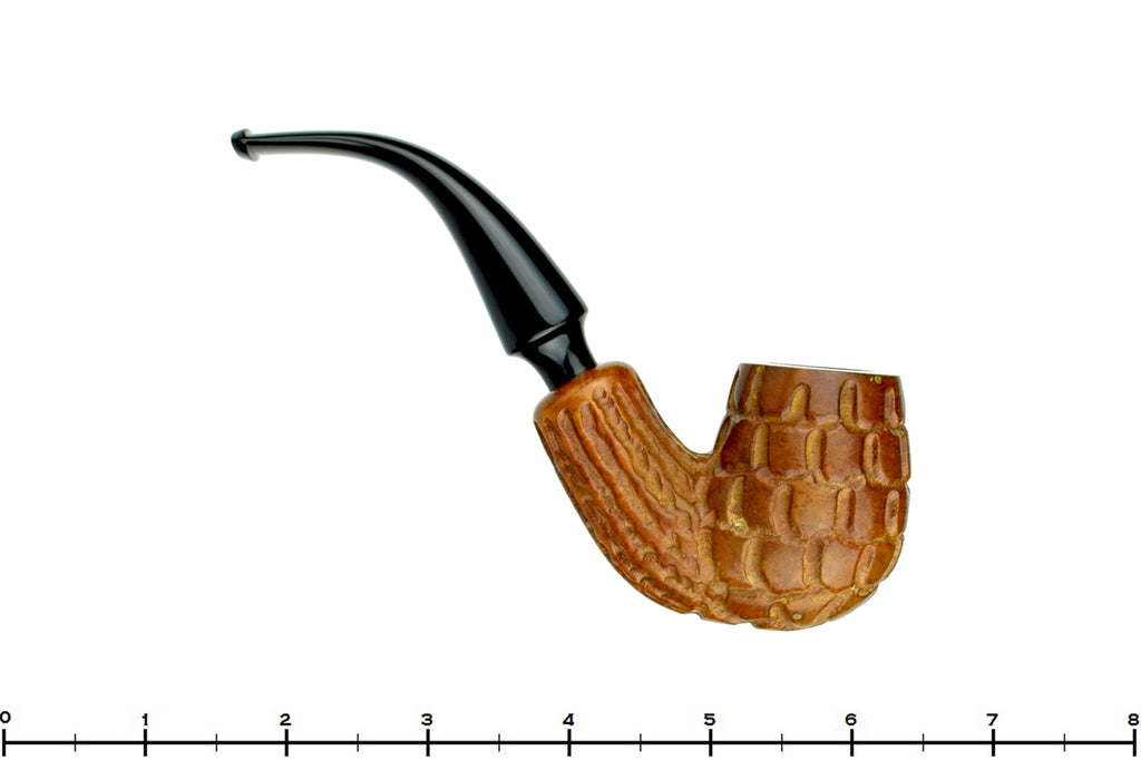 Blue Room Briars is proud to present this Minorca Carved 3/4 Bent Billiard Estate Pipe