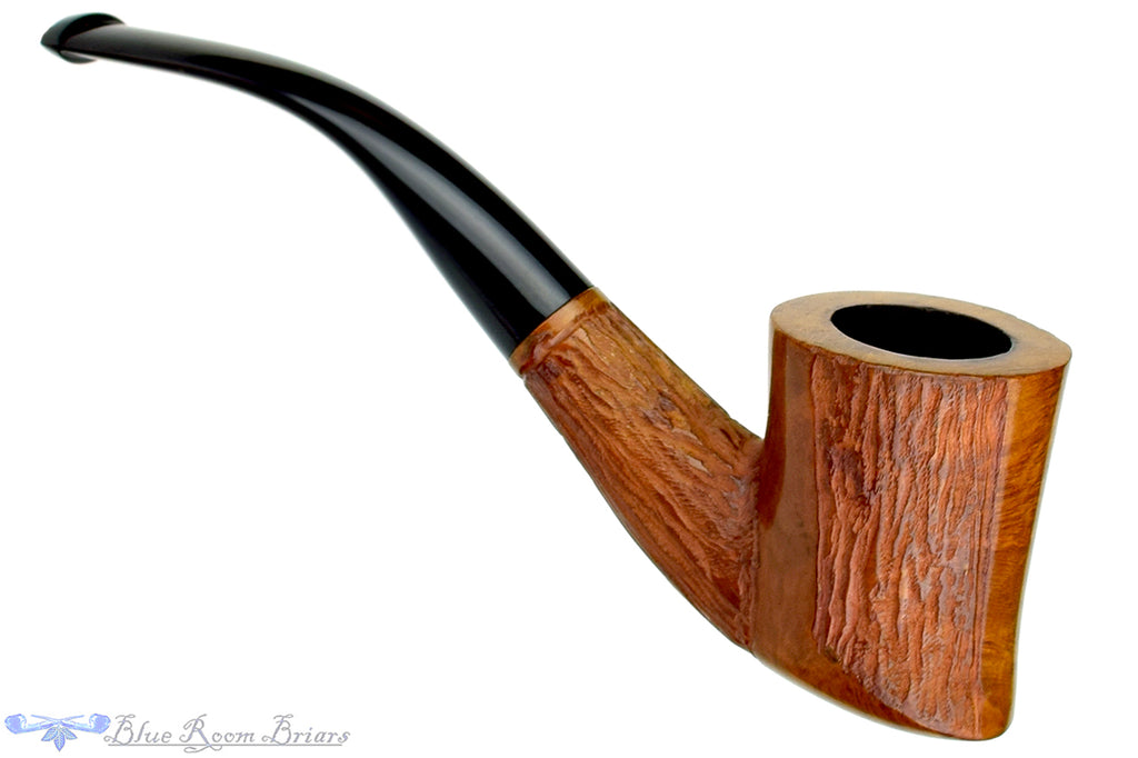 Blue Room Briars is proud to present this Barclay Rex 1/2 Bent Partial Rusticated Skater Estate Pipe