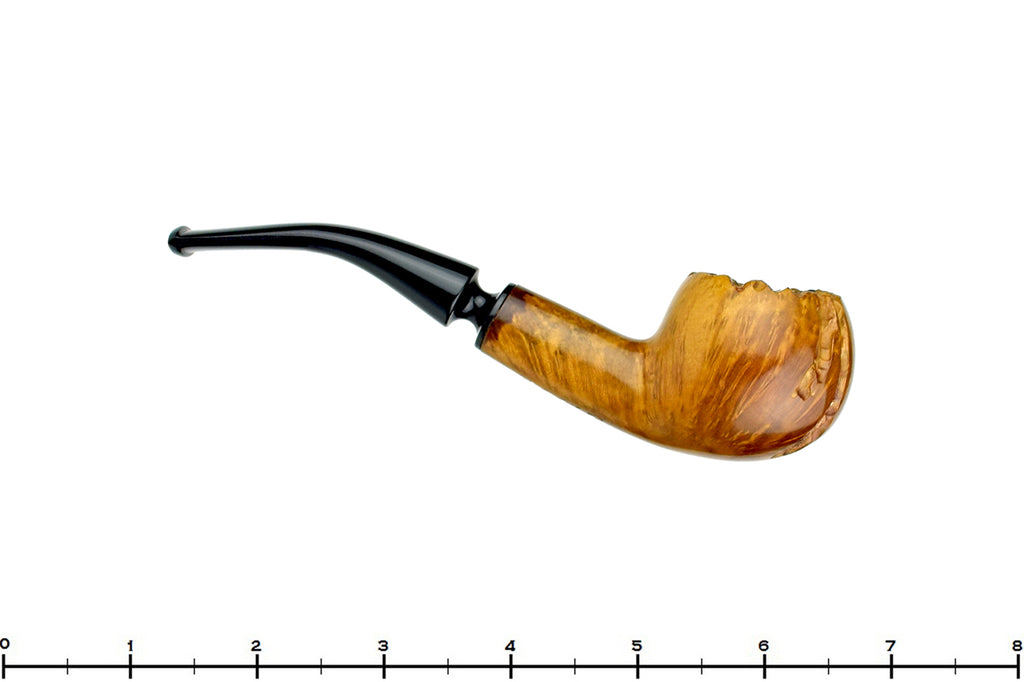 Blue Room Briars is proud to present this E. Oslo 1/4 Bent Partially Carved Apple Estate Pipe