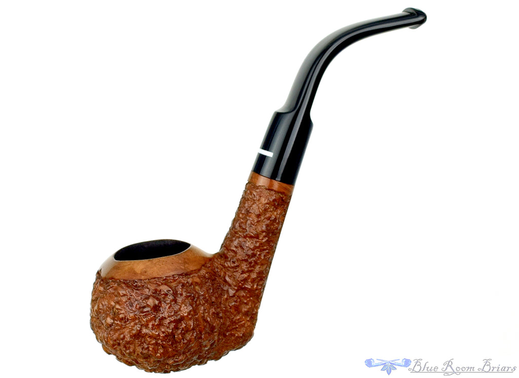 Blue Room Briars is proud to present this Don Carlos 3/4 Bent Rusticated Tomato Estate Pipe