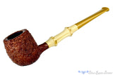Blue Room Briars is proud to present this Nate King Pipe 388 Brown Blast Apple with Bamboo and Bakelite