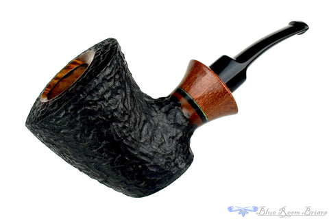 Cellini 1/2 Bent Partial Carved Bulldog Sitter Estate Pipe