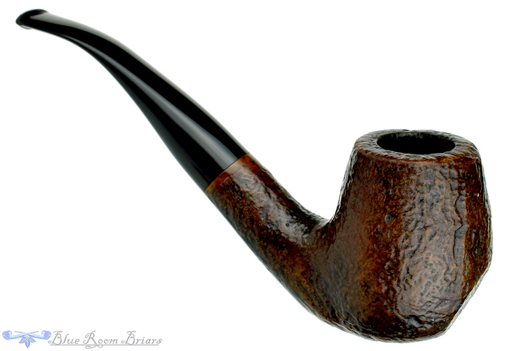 Blue Room Briars is proud to present this Sasieni 4 Dot 1/2 Bent Sandblasted Billiard Sitter Estate Pipe