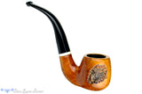 Blue Room Briars is proud to present this Italian 3/4 Bent Partial Rusticated Apple with Acrylic Estate Pipe