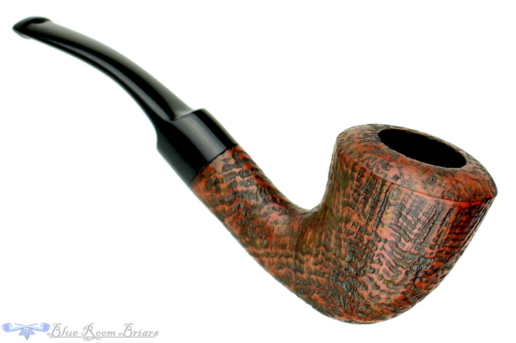 Blue Room Briars is proud to present this Real Briar Filter 1/4 Bent Sandblast Calabash (9mm Filter) UNSMOKED Estate Pipe