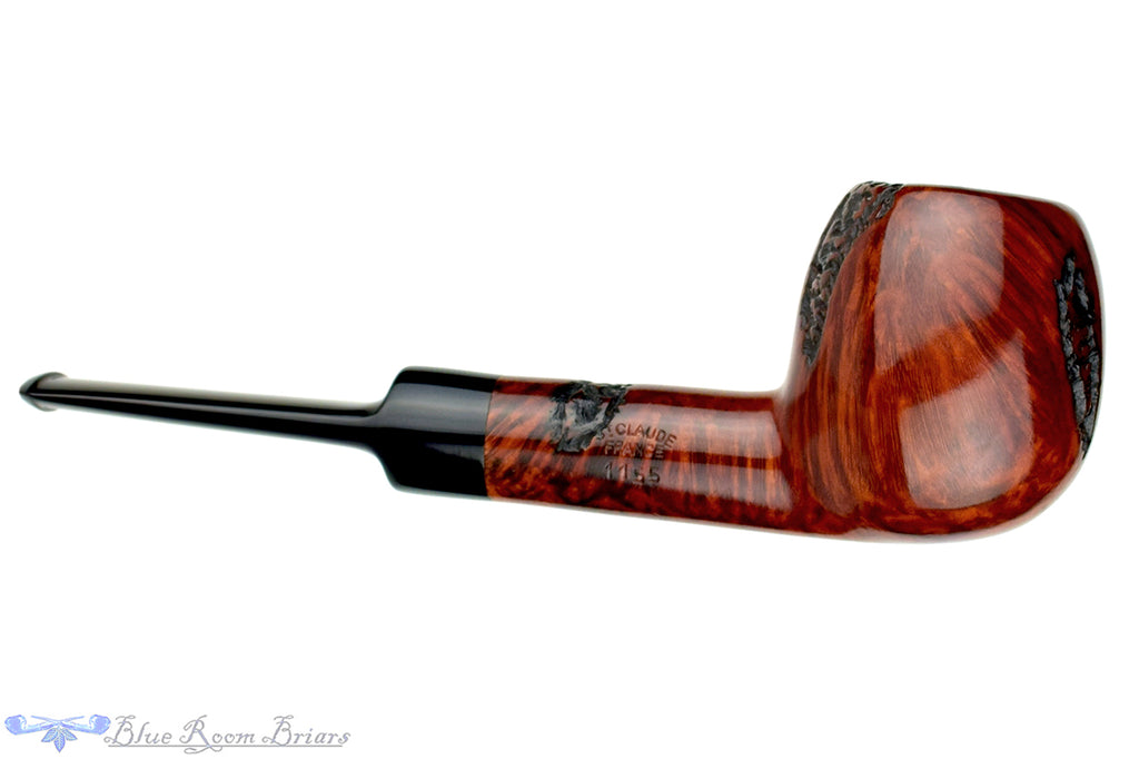 Blue Room Briars is proud to present this Butz-Choquin Roquebrune 1155 Partially Rusticated Apple Estate Pipe