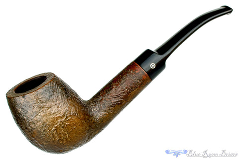 Danish 1/2 Bent Partial Sandblast Egg Estate Pipe